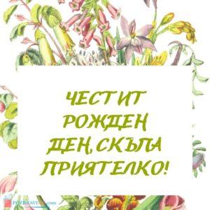 Картичка с Пожелания за рожден ден на приятелка